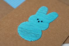 peeps card! hand stitched
