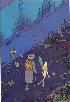 "Moebius - ""Montrouge Mystery"" 2001 Illustration 14"