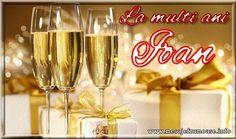 La multi ani Ioan Santa Wish List, Dear Santa, Champagne, Happy Birthday, Sparkle, Tableware, Christmas, Holiday Decorations, Women's Fashion