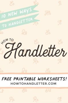 Ready to handletter with me? Let's do this! 10 new and exciting ways to handletter the word: Thank you! #brushcalligraphy #letteringaddict #lettering #letteringlove #handlettering Beautiful Lettering, Cool Lettering, Lettering Styles, Brush Lettering, Hand Lettering, Free Printable Worksheets, Printable Letters, Tombow Brush Pen, Calligraphy For Beginners