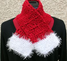 Child's Crochet Scarf & Headband #Santa Style by ChicChixnChampagne, $20.00