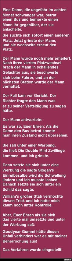 Eine Dame, die ungefähr im achten Monat schwanger war.. | DEBESTE.de, Lustige Bilder, Sprüche, Witze und Videos