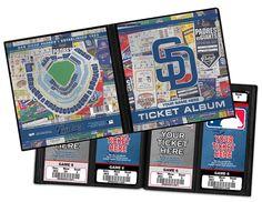 Personalized San Diego Padres Ticket Album