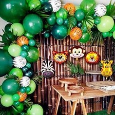 2020 Upgrade Jungle Safari Theme Party Supplies, 102 PCS Balloon Garland Kit, Favors for Kids Boys Birthday Baby Shower Decor, Balloons for Parties, Party Birthday Balloons Decorations Baby Shower Parties, Baby Shower Themes, Baby Boy Shower, Baby Shower Decorations, Animal Theme Baby Shower, Jungle Theme Baby Shower, Baby Showers, Safari Baby Shower Cake, Shower Ideas