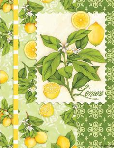 A Big Imagination in a Tiny Space.: 10 Reasons To Wear Yellow.(or at least more! Posters Vintage, Vintage Labels, Vintage Art, Lemon Art, Green Theme, Kitchen Art, Paper Background, Journal Cards, Botanical Prints