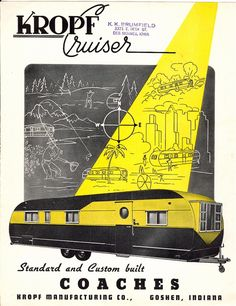 1951 - 1954 Vintage Coach & Travel Trailer Brochures