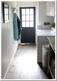 Summer Tour of Homes Day One - great DIY decor ideas on this post. Love the trash can as laundry hamper!