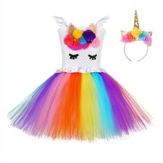 Bright Rainbow Pony Unicorn Birthday Dress for Teens White Ruffles Wedding Girls Dress 12 Age Unicorn Pattern Girls Tutu Dress We offers a wide selection of trendy style women's clothing. Affordable prices on new tops, dresses, outerwear and more. Girls Tutu Dresses, Girls Dress Up, Wedding Dresses For Girls, Tutus For Girls, Girls Party Dress, Birthday Dresses, Dresses For Teens, Flower Girl Dresses, Flower Girls