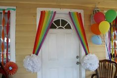 Rainbow decorations my little pony friendship is magic rainbow dash birthday party decoration idea