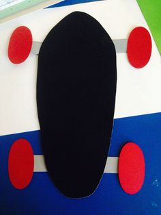 Skateboard/longboard just use colored construction paper and paint it black! (You can even let them scratch the paper so the board looks used!) Came up with the idea myself for my prek class and I am in no way creative!! -ES