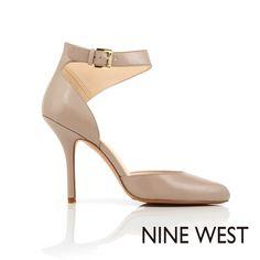 NINE WEST 奧黛麗赫本風情 性感繞踝高跟鞋 - 氣質灰褐 - Yahoo!奇摩購物中心