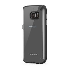 PURE.GEAR SLIM SHELL SAM G930 (GALAXY S7)  TRANSPARENTE CON NEGRO