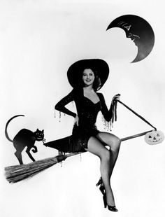 Ava Gardner as a witch in 1944
