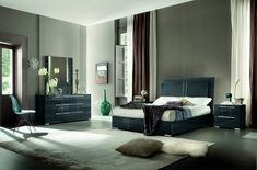 Tivoli Bedroom Collection by ALF made in Italy. Tivoli bedroom is on display in orlando, fl Unique Bedroom Furniture, Cheap Furniture, Contemporary Furniture, Living Room Furniture, Contemporary Design, Contemporary Bedroom, Rustic Furniture, Bed With Led Lights, Italian Furniture
