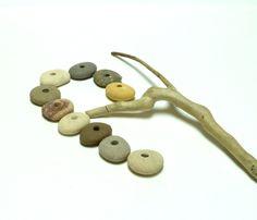Genuine Drilled Beach Stones APPALACHIAN TRAIL Focal Jewelry Beads River Stone…