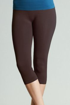 The world's best capri legging! Once you wear these you will never go back to any other brand. Made of plain jersey thicker fabric for comfort and a non see through appearance. All of our capri leggings are knitted with elastic waistbands for a secure hold and a comfortable fit.     Capri Length - 17-inch inseam 8 inches from inseam to waist Favorite Capri Leggings by Nikibiki. Clothing - Bottoms - Pants & Leggings - Cropped Clothing - Bottoms - Pants & Leggings - High-Waisted Clothing…