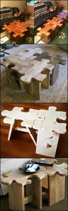 Jigsaw Puzzle Coffee Table  http://theownerbuildernetwork.co/c9o9  Are you a jigsaw puzzle fan? Do you have the patience to find all the border pieces? Then this jigsaw puzzle coffee table might be for you!
