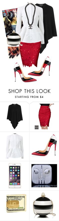 """3rd Sunday"" by cogic-fashion ❤ liked on Polyvore featuring Etro, Relaxfeel, Alexander McQueen, Christian Louboutin, Kate Spade and Chanel"