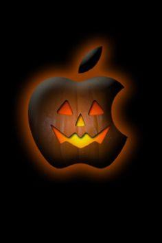 Halloween Pumpkin Apple Background For iPhone Iphone Logo, Apple Logo Wallpaper Iphone, Apple Wallpaper Iphone, Iphone Background Wallpaper, Phone Wallpapers, Computer Wallpaper, Halloween Wallpaper Iphone, Holiday Wallpaper, Halloween Backgrounds