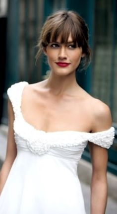 wedding hairstyle with bangs