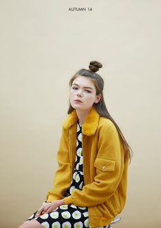 Whitepepper wool bomber jacket...mustard is so quiche