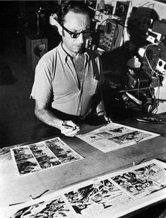 Frank Robbins Comic strip and comic book artist, writer, painter. #Invaders #Batman #JohnnyHazard