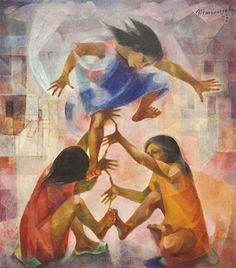 Vicente Silva Manansala (January 1910 - August was a Philippine cubist painter and illustrator. Manansala was born in. Filipino Art, Filipino Culture, Philippine Art, Philippines Culture, Exotic Beaches, Tropical Beaches, Art Database, Contemporary Artwork, Beautiful Paintings