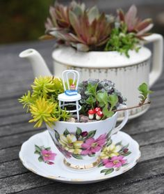 13 Downright Magical Fairy Gardens Youll Wish You Could Live In via Brit + Co