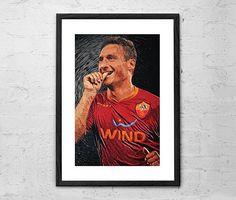 Francesco Totti  Illustration  AS Roma  Football Poster