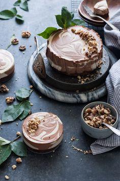 Black Bottomed Chocolate Vanilla Swirl Cheesecake