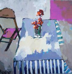 Gary Bodner, 'Je Ne Sais Quoi', Mixed Media on Canvas, 48x48 - Anne Irwin Fine Art