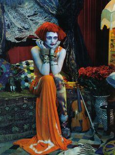 Sasha Pivovarova.  Emma Summerton.  Vogue Italia