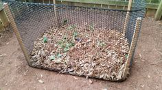 How to make a simple compost bin for your yard!