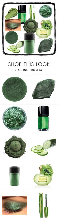 """Green goblin"" by evelyn-anita ❤ liked on Polyvore featuring beauty, Lipstick Queen, NARS Cosmetics, Illamasqua, MAC Cosmetics, Coach and Rimmel"