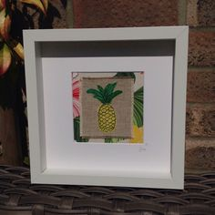 A personal favourite from my Etsy shop https://www.etsy.com/uk/listing/278985224/pineapple-freemotion-embroidered-art