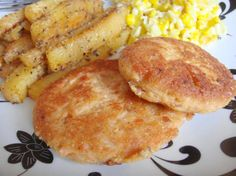 """Southern Fried Salmon Patties: """"These are the best salmon patties I've ever tasted. So easy, moist, and flavorful. I added some crushed red pepper to give it a little kick."""" -Chef No. 1353969/trish"""