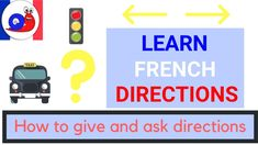 Are you ready to learn how to ask directions in French when you are lost or looking for a place? In this video we also learn how to give directions, for example if you need to tell your way to a taxi driver. Learn French Beginner, Give Directions, Taxi Driver, Giving, To Tell, Told You So, Lost, Learning, Snail