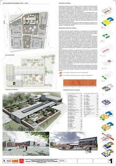 Primer Lugar Concurso para el Diseño de Colegios y un Equipamiento Cultural – Teatro, en Bogotá / Colombia,Lámina 01. Image Courtesy of Carlos Andrés García y Eduardo Mejía