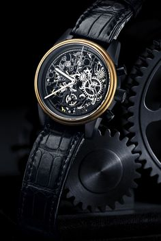 Watch from the Skeleton Collection at Luxury Swiss Watchmakers Maurice de Mauriac.   http://www.mauricedemauriac.ch/