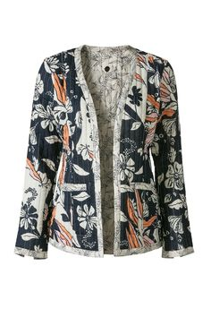 Wat leuk dit Didi reversible jasje, deze kun je binnenstebuiten keren. Het zijn dus eigenlijk twee jasjes in één! en dat voor maar €39,95 #mode #dames #vrouwen #vest #jasje #blazer #jacket #print #bloemen #floral #flowers #fashion #women #ladies #sale #uitverkoop