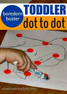 How to set up an easy-peasy indoor activity for toddlers.