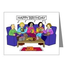 Happy Birthday from the Book Group Note Cards