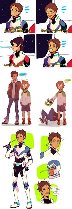 Anne is Lance Pearce is Keith And Momo is Pidge XD Form Voltron, Voltron Ships, Voltron Klance, Samurai, Klance Comics, Lance Mcclain, Voltron Memes, Fanart, Allura