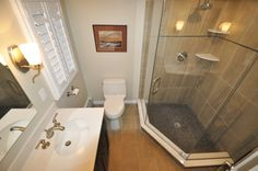 Three Piece Bathroom with Stand Up Shower.