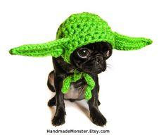 Baby Bear Earflap Hat Hand Crocheted Hehehehe Yoda ears!