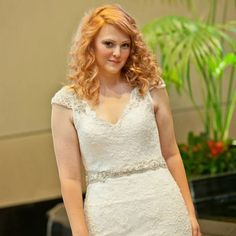 Gorgeous Premier Bridal Shows' fashion show model. Such a soft and romantic look!