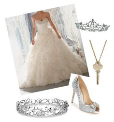 """""""Dream Wedding"""" by isabella-devito on Polyvore featuring Badgley Mischka, Effy Jewelry, The Giving Keys, Kate Marie, women's clothing, women, female, woman, misses and juniors"""
