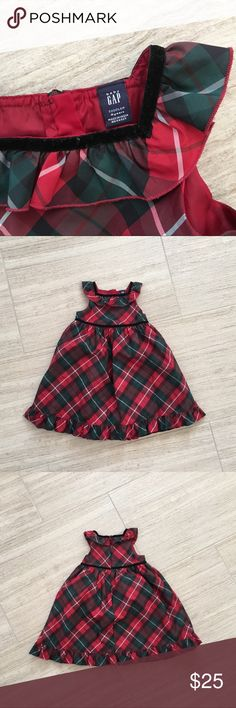 Baby Gap Plaid Holiday Dress Holiday dress. Awesome condition. GAP Dresses
