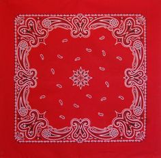 Pillarbox Red Vintage Paisley