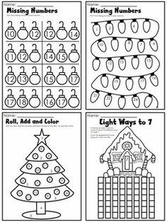 best kindergarten math worksheets images  kindergarten math  christmas math worksheets  a mega bundle for kindergarten